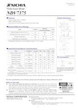 日亜化学工業株式会社のレーザーダイオードのカタログ