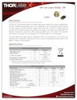 ソーラボジャパン株式会社のレーザーダイオードのカタログ