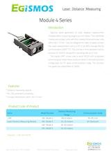 エジスモステクノロジー株式会社のレーザー距離計のカタログ