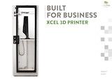 BUILT FORUSINESS XCEL 3D PRINTERのカタログ