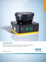 nanoScan3 THE WORLD'S SMALLEST SAFETY LASER SCANNER - HIGHLY PRECISE AND EXTREMELY ROBUSTのカタログ