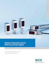 Miniature Photoelectric Sensors W4S-3 Inox Higieneのカタログ