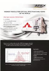 APEX Technologiesの光スペクトラムアナライザのカタログ